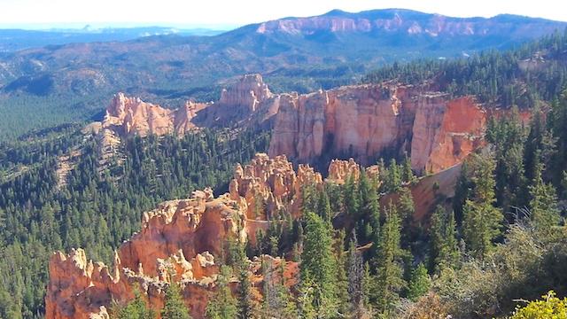Magnifique roches et arbres dans le parc de Bryce Canyon aux USA voyage blog tour du monde https://yoytourdumonde.fr