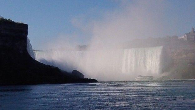 Les magnifiques Chutes du Niagara coté Canadien photo blog voyage tour du monde https://yoytourdumonde.fr