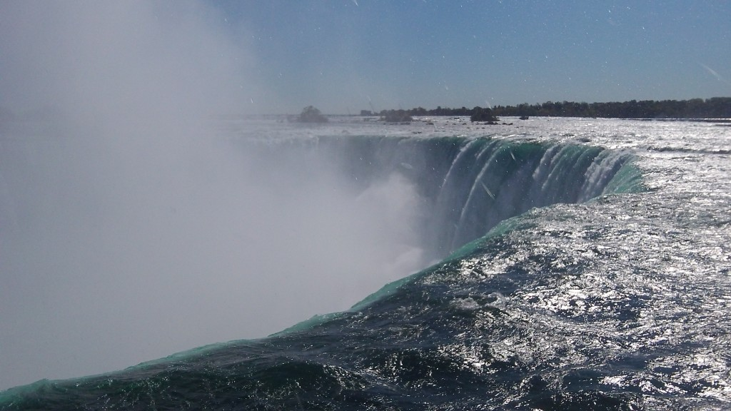 Vue sur l'une des Chutes du Niagara coté Canada photo blog voyage tour du monde https://yoytourdumonde.fr