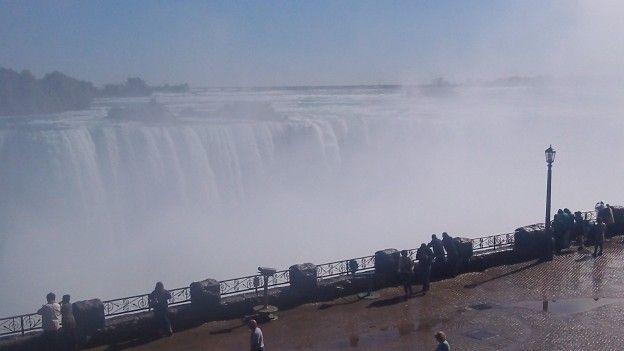 Vue sur les chutes du Niagara coté Candadien photo blog voyage tour du monde https://yoytourdumonde.fr