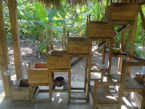 Processus de fabrication du chocolat à Baracoa capitale du chocolat de Cuba photo blog voyage tour du monde https://yoytourdumonde.fr