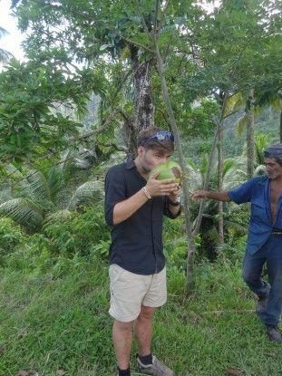 J'ai eu la chance de boire une noix de coco dans le parc national Alejandra Humboldt à Cuba photo blog voyage tour du monde https://yoytourdumonde.fr