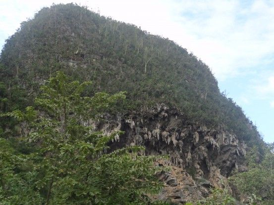 Une montagne de calcaire à Vinales à Cuba, c'est ici que se trouve la 2ème plus grande grotte d'Amérique. Photo blog voyage tour du monde https://yoytourdumonde.fr