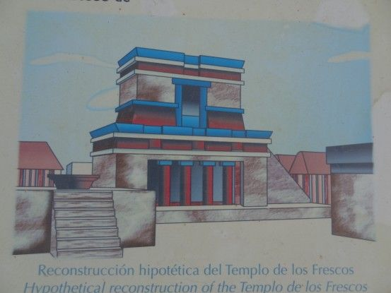 Dessin de la ville de Tulum à l'origine photo blog voyage tour du monde https://yoytourdumonde.fr