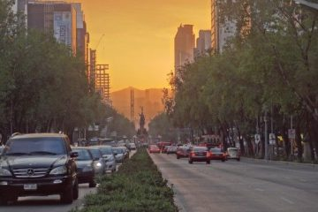 Voile de pollution sur Mexico City photo blog voyage tour du monde travel https://yoytourdumonde.fr