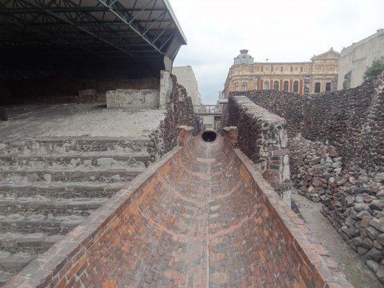 Site archeologique avec le Temple Mayor dans le centre de Mexico City photo blog voyage tour du monde travel