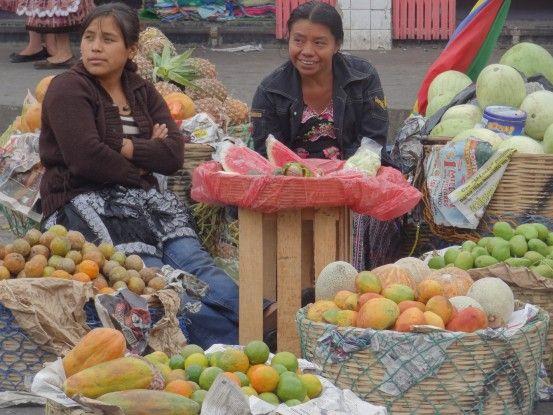 Le marché très coloré de Quetzaltenango