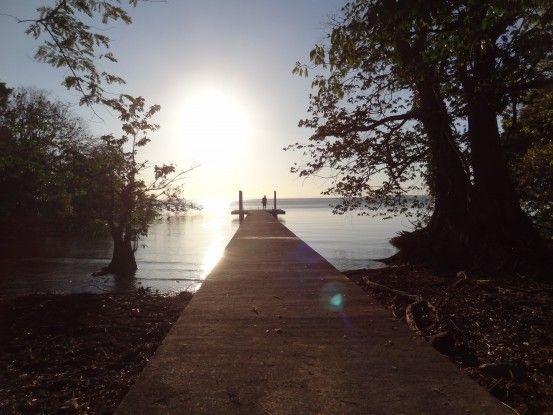 Ponton sur l'Ile d'Ometepe au Nicaragua photo blog voyage tour du monde travel https://yoytourdumonde.fr