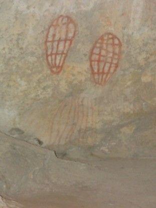 Australie- Whitsunday: Art Aborigene...ne me demandait ce que cela represente. On a rien pige...