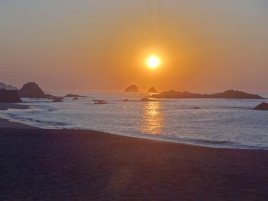 Superbe levé du soleil à Mazunte au Mexique photo blog voyage tour du monde travel https://yoytourdumonde.fr