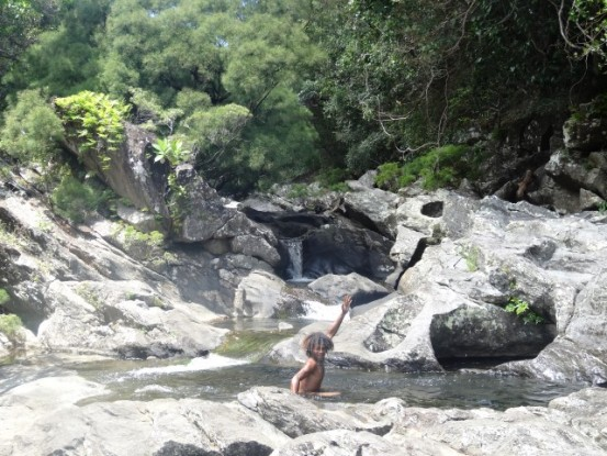 Nouvelle-Caledonie: Piscine naturelle pres de Saint Denis de Balade.