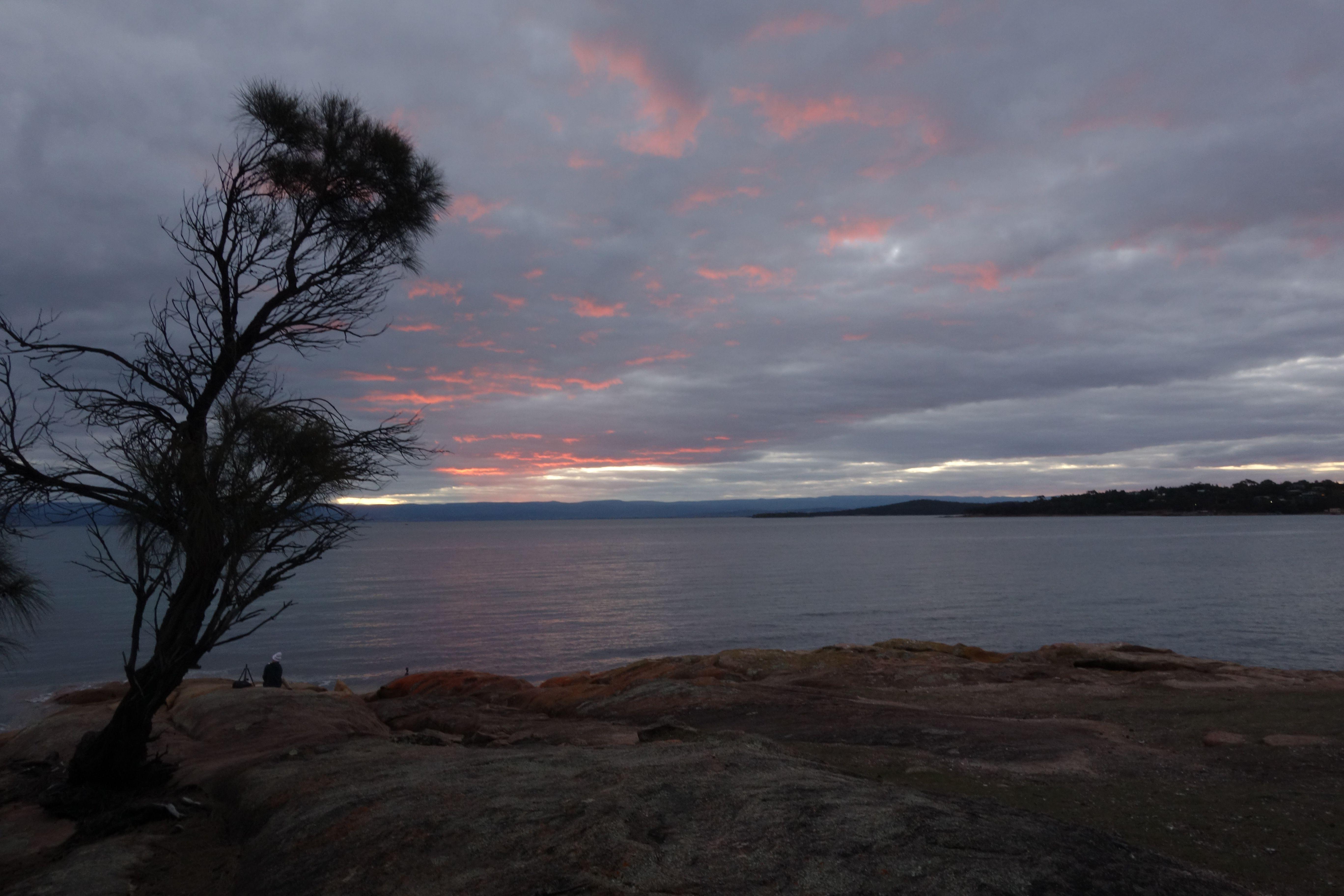 Australie-Tasmanie: Couche de soleil.