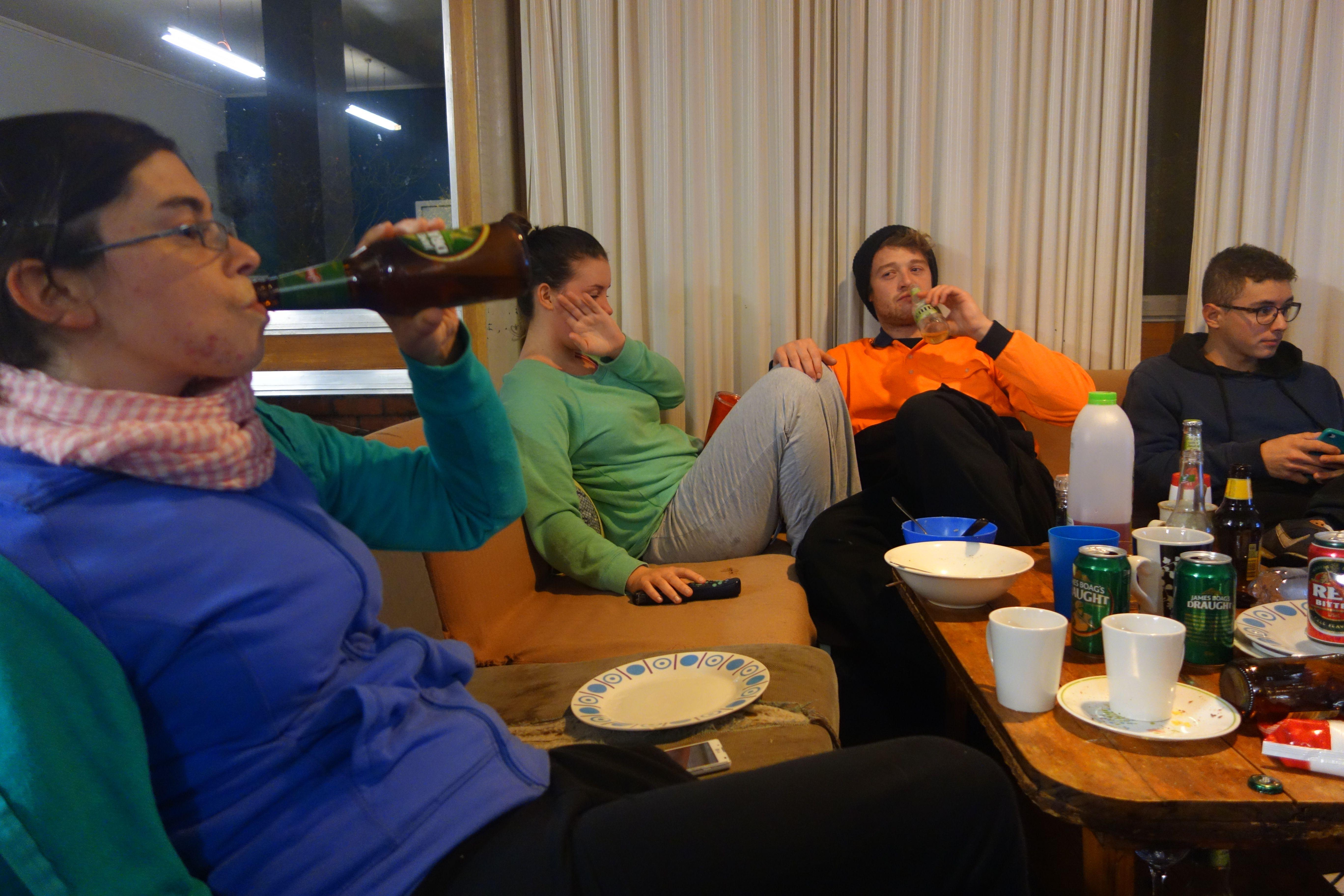 Australie- Tasmanie: Apres le taf a 2h du matin...décompression a l'hôtel.