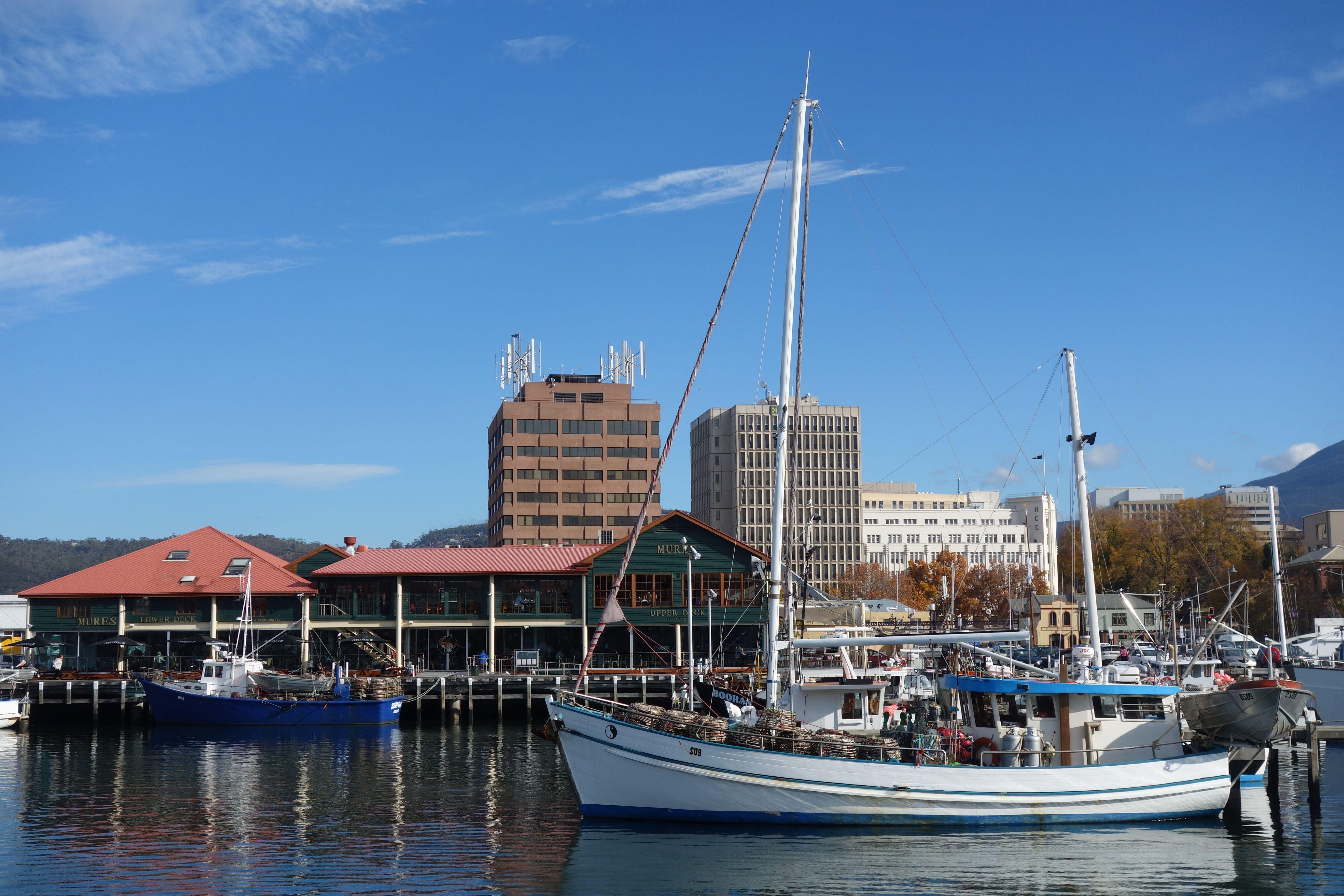 Australie- Tasmanie: Le Port d'Hobart.