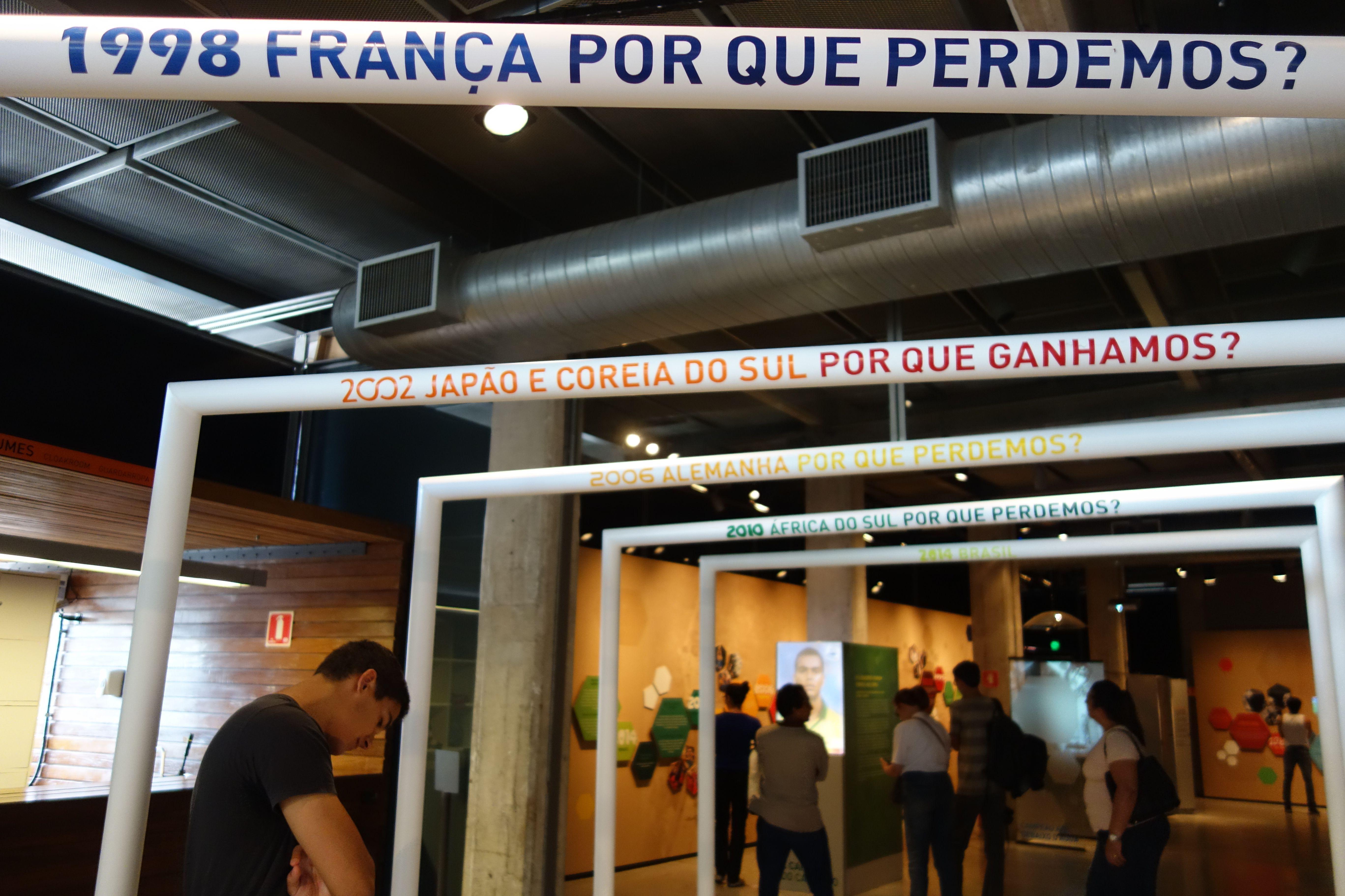 COUPE DU MONDE DE FOOTBALL: Musee du football a Sao Paulo, le Bresil cherche toujours pourquoi il a perdu la finale contre La France.