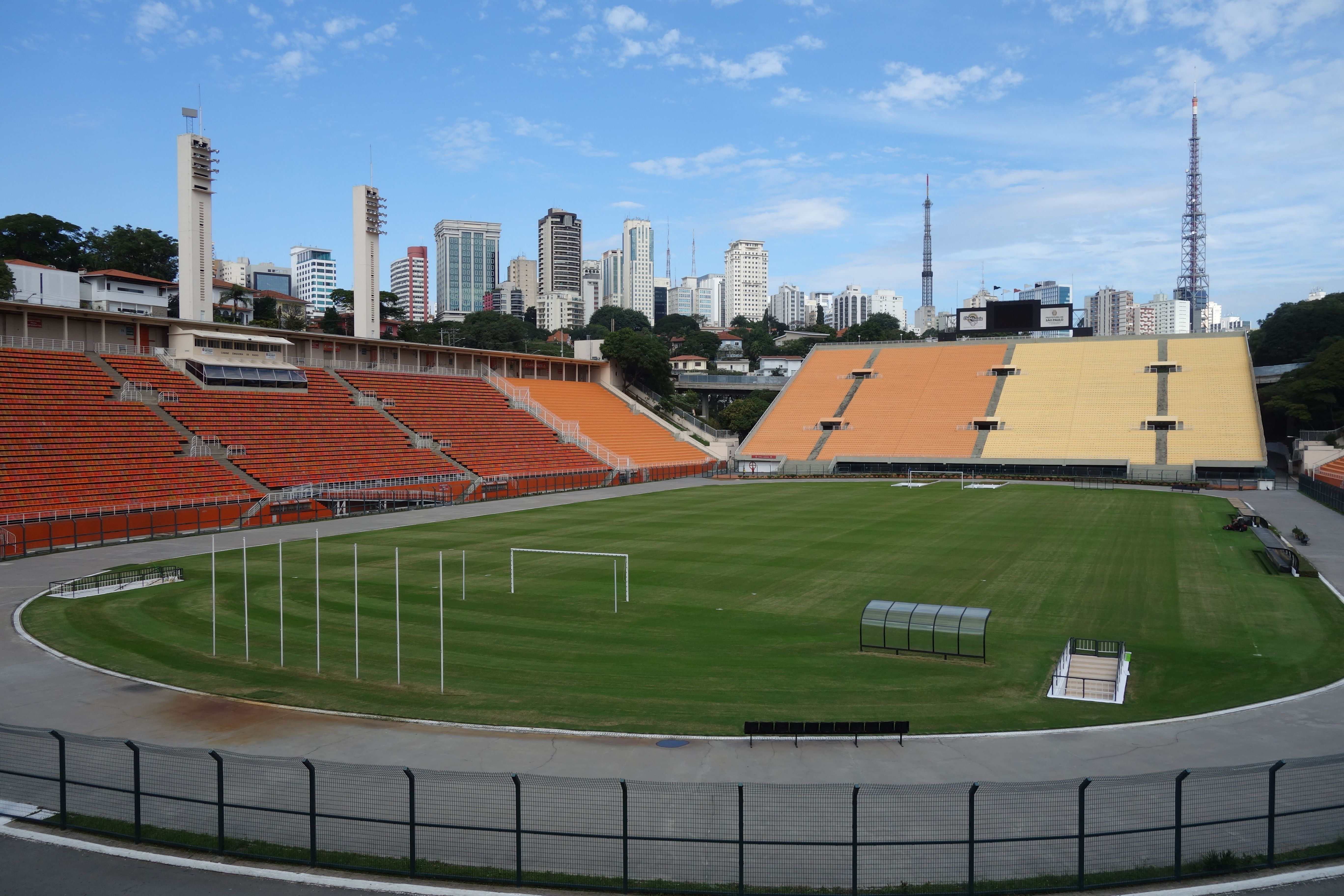 COUPE DU MONDE DE FOOTBALL: Musee du football a Sao Paulo. Le musee se trouve sous les gradins d´un grand stade de Sao Paulo.