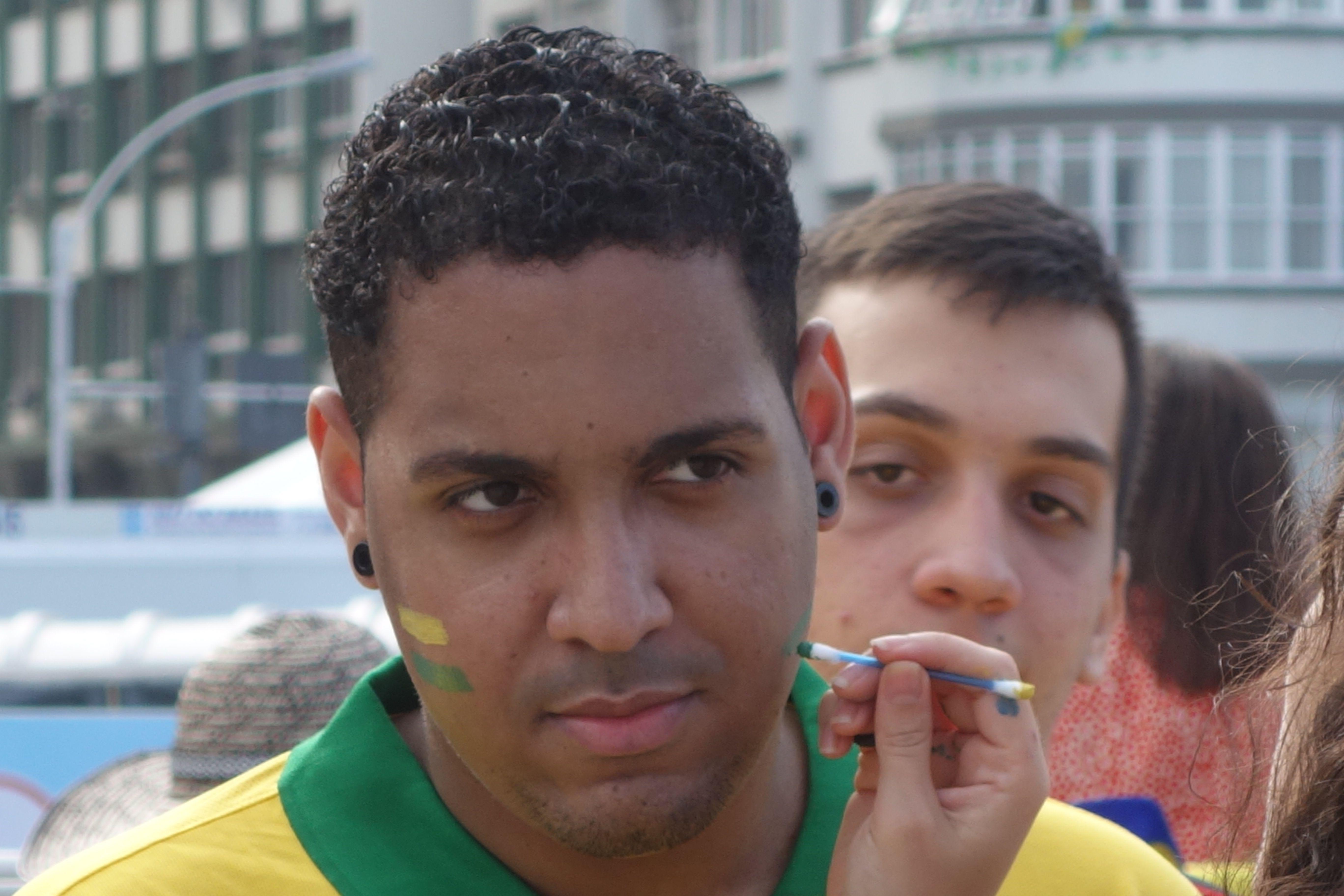 COUPE DU MONDE BRESIL 2014: Plage de Copacabana, le Bresil retient son souffle.