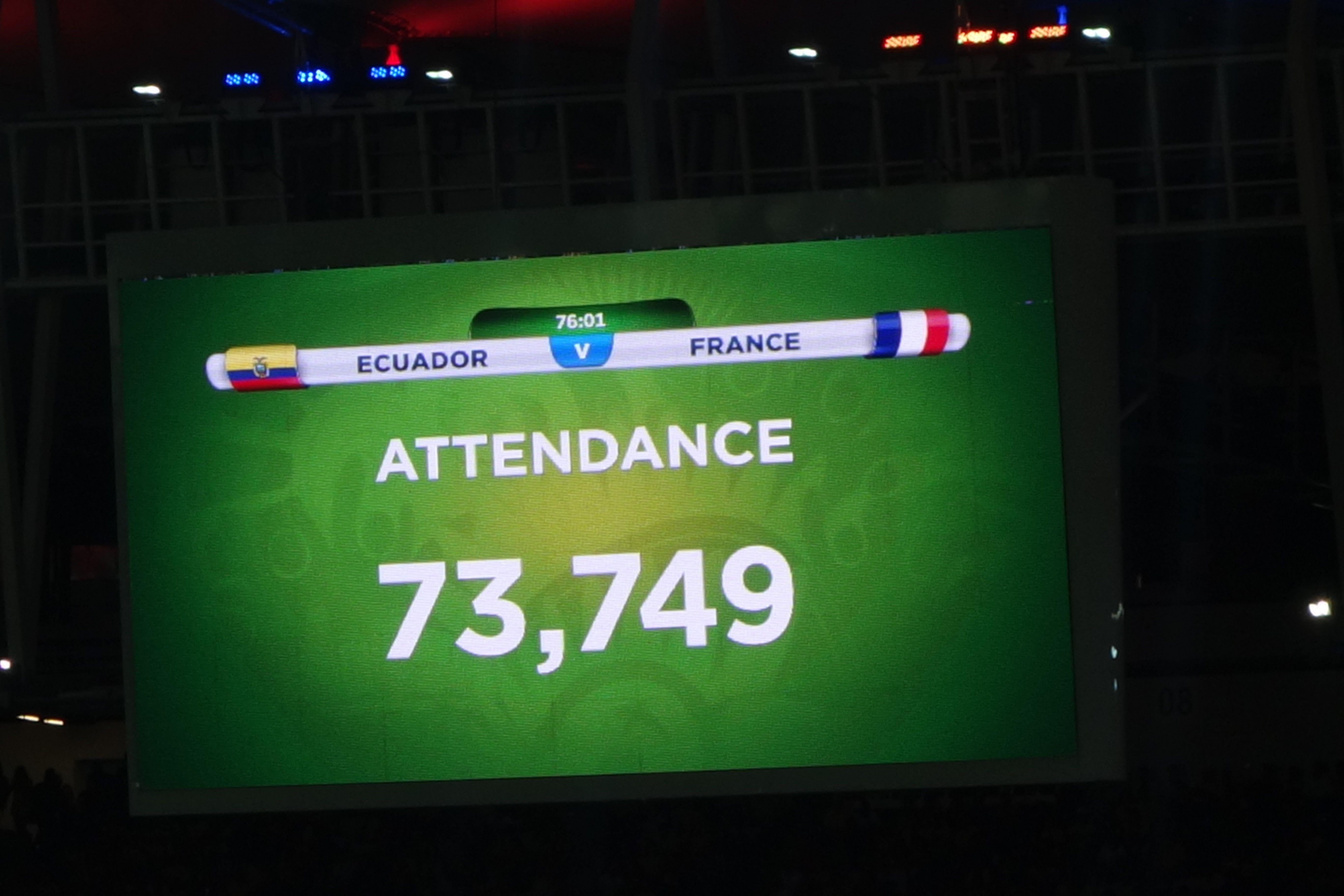Coupe du Monde de Football: France-Equateur.