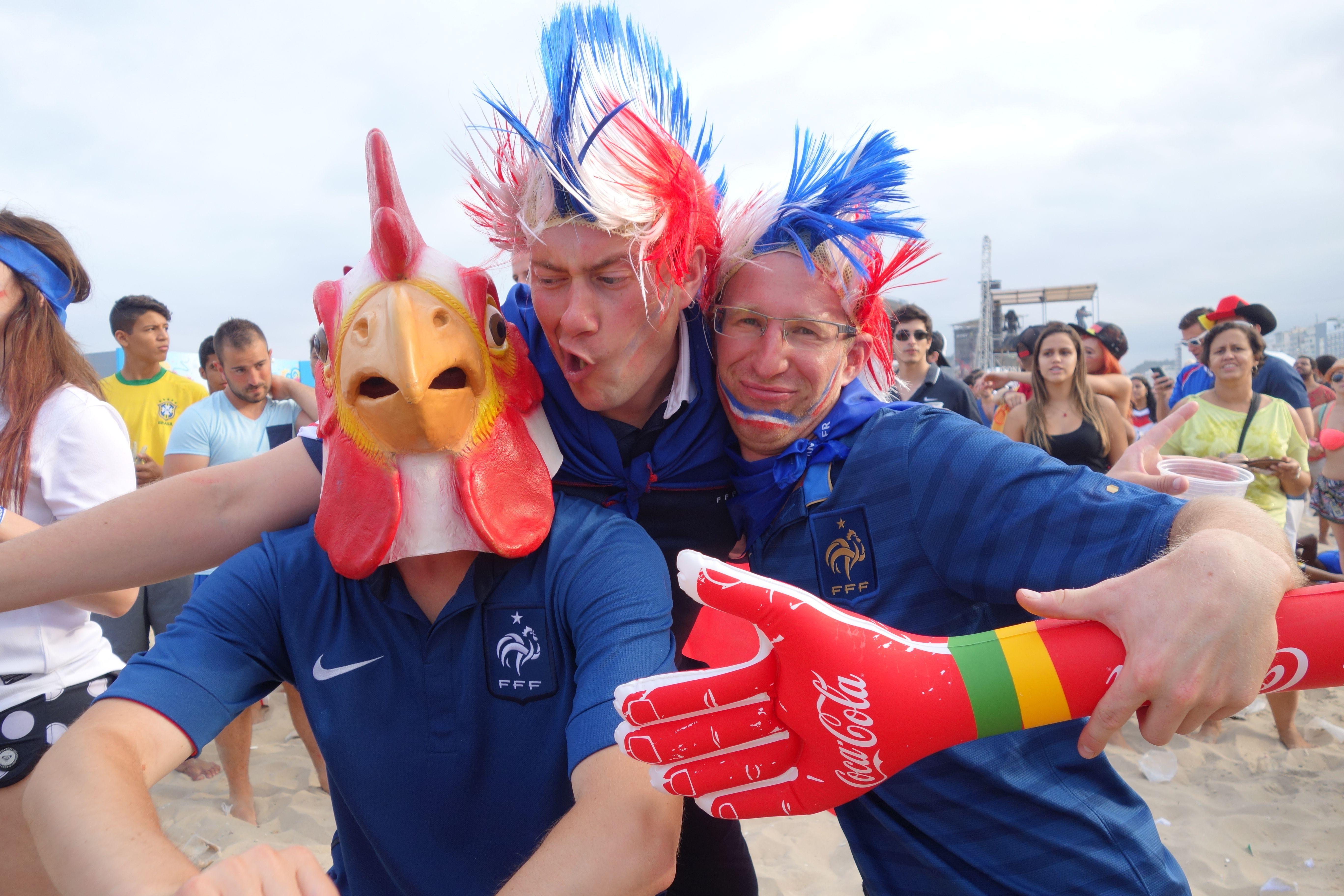 Coupe du Monde de Football: France-Nigeria au Fifa Fan Fest de Copacabana.