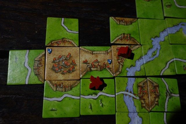 Pérou-Yurimagouas: Il m'aura fallut plusieurs partie pour faire mon premier chateau. Mais je fini à la 2eme place pour 2 petits pointsd de retards! Maudit chemin!!!