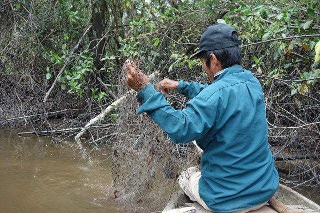 Pérou-Réserve Pacaya Samiria: La peche.