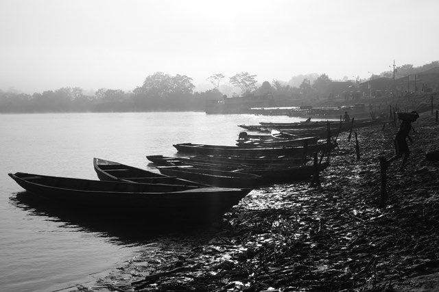 Voyage au Perou- Lagunas: Le port du village.