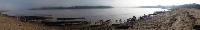 Voyage au Perou: Le fleuve est des plus magnifique ce matin!