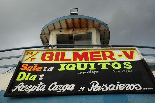Voyage au Perou: Le bateau de la mort s'appelle GILMER!