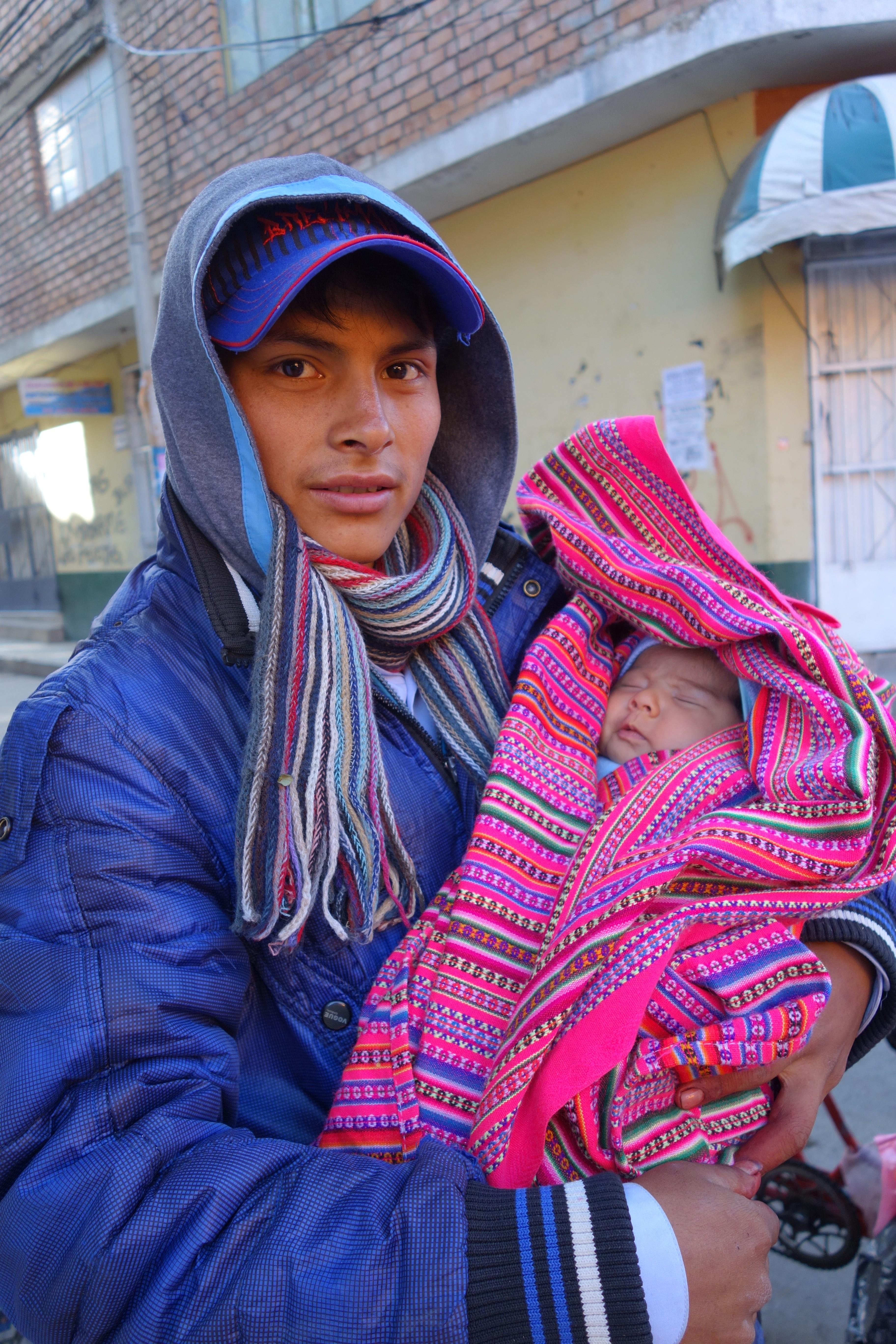 Peru-Huaraz: Pedro et son fils Tiago.