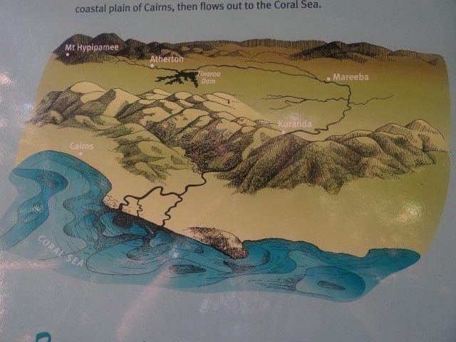 Australie- Queensland: La cascade et Kuranda comme vous pouvez le voir se trouve juste à coté du Pacifique.