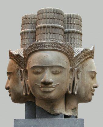 Statue du Dieu Brahma au musée Guimet.