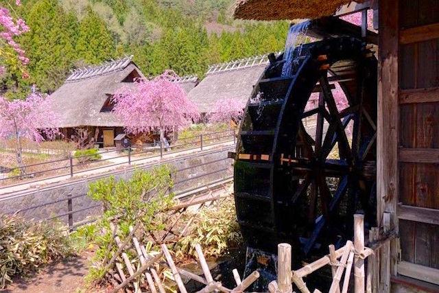 Mont Fuji petit village médiéval japonais de Saiko Iyashi no Sato Nemba article blog tour du monde http://yoytourdumonde.fr
