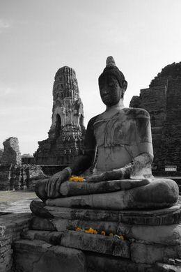 meditation-bouddha-statue-thailande-ayutthaya-unesco-voyage