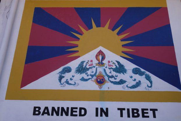 Drapeau tibétain photo blog voyage tour du monde https://yoytourdumonde.fr