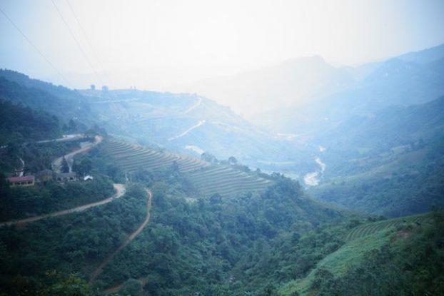 Possibilité de voir les terrasses en rizière sur Sapa, mais il vous faudra descendre de la vallée.