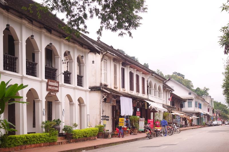 Centre ville historique de Luang Prabang au Laos photo blog voyage tour du monde http://yoytourdumonde.fr