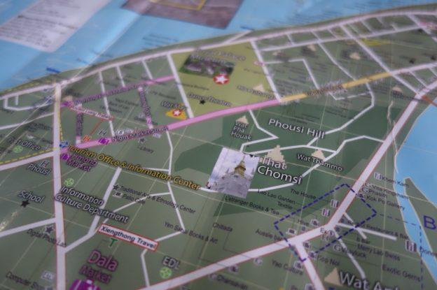 La carte de Luang Prabang au Laos photo blog voyage tour du monde https://yoytourdumonde.fr