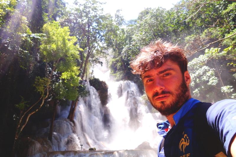 Laos luang prabang cascade Kuang Si falls photo blog voyage tour du monde http://yoytourdumonde.fr