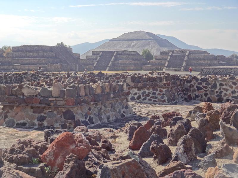 Teotihuacan l'une des plus grandes cités du monde à son époque photo blog voyage tour du monde travel https://yoytourdumonde.fr