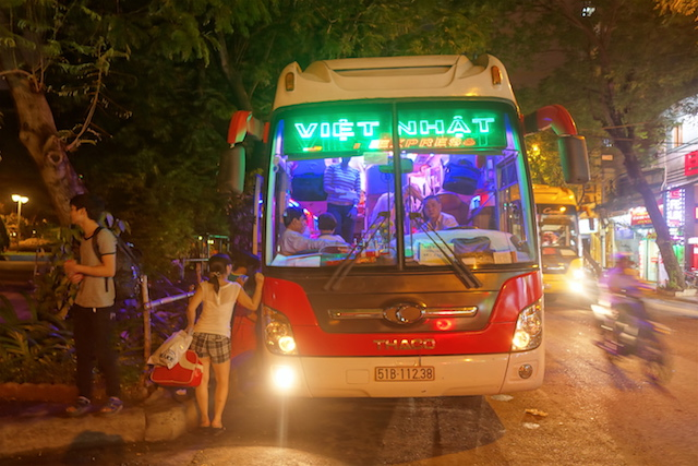 Vous pouvez prendre le bus à Ho Chi Minh ville ou Saigon pour prendre le bus en direction de Nha Trang. Photo blog voyage tour du monde https://yoytourdumonde.fr
