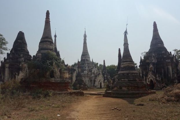 Plus de 250 stupas et temples vous attendent du coté de Myint en birmanie ou myanmar photo voyage blog tour du monde https://yoytourdumonde.fr