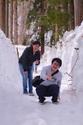 Grosse chute dans les Alpes Japonaises si vous n'avez pas de bonnes chaussures. Photo blog voyage tour du monde http://yoytourdumonde.fr