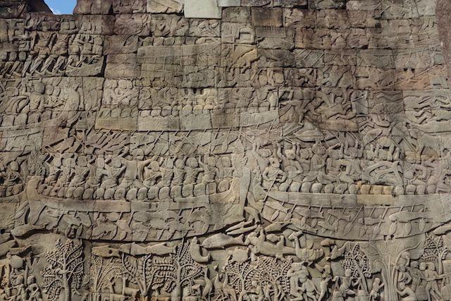 bas relief dans les temples d'Angkor photo blog http://yoytourdumonde.fr