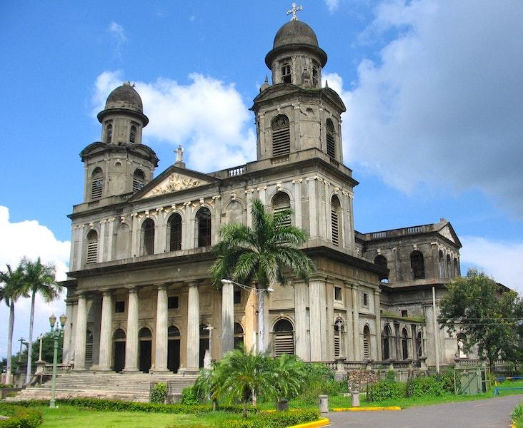 L'ancienne cathédrale de Managua photo blog voyage tour du monde https://yoytourdumonde.fr