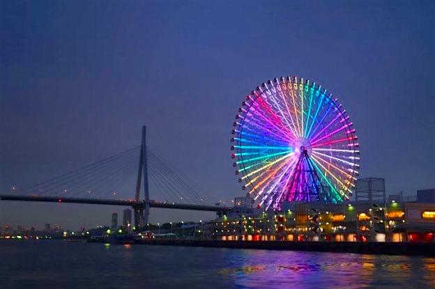 L'un des plus grandes tour au monde se trouve à Osaka, son nom est la Tempozan Ferris Whell. Photo blog voyage tour du monde https://yoytourdumonde.fr
