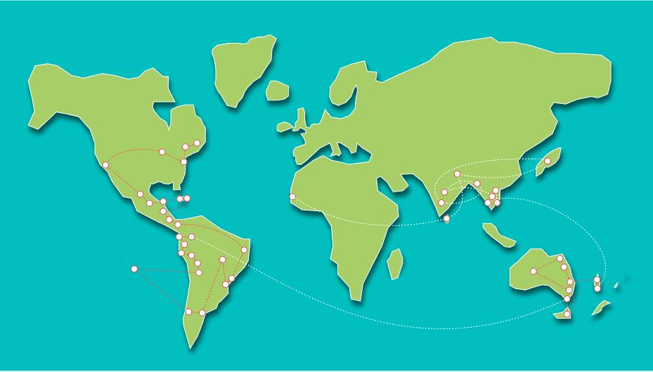 carte voyage autour du monde